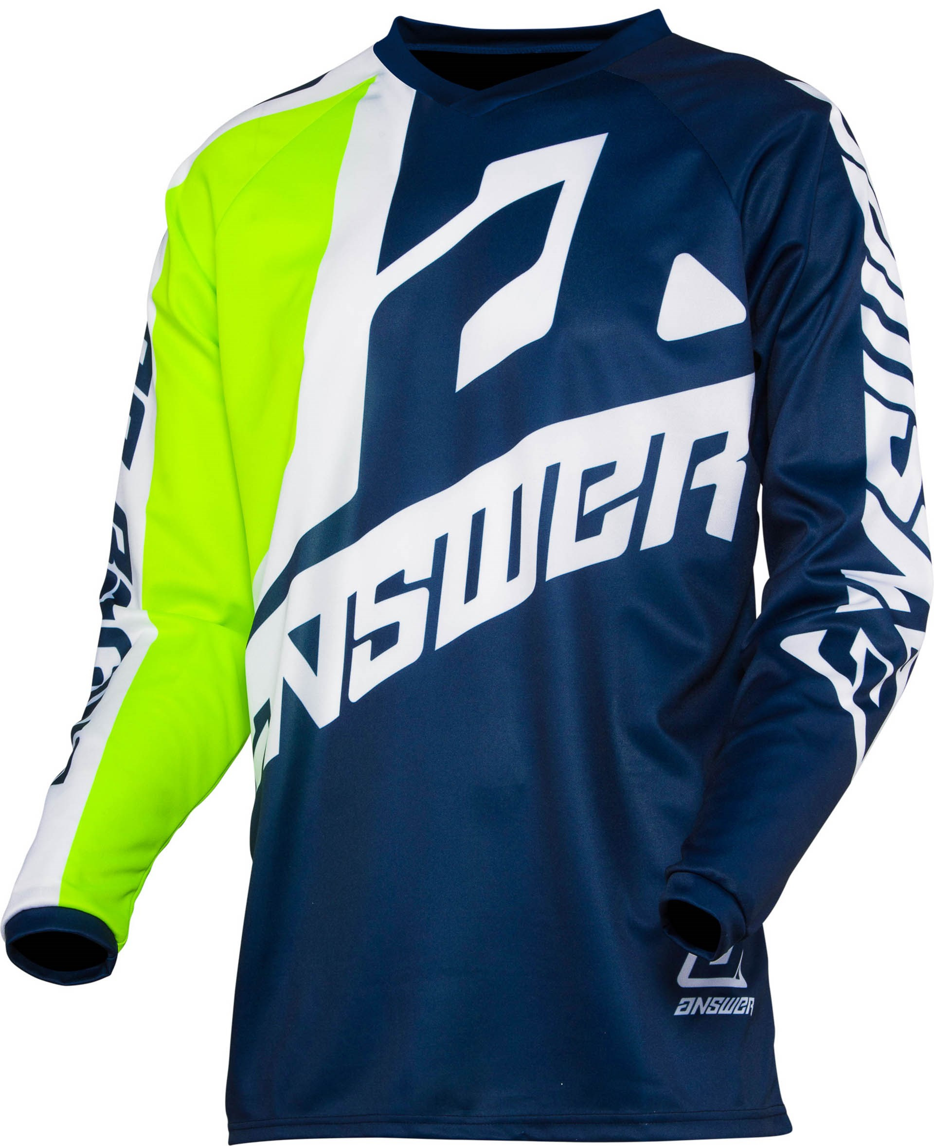 Answer Youth Syncron Voyd Motocross Jersey and Pants Combo Red//Reflex Blue//White